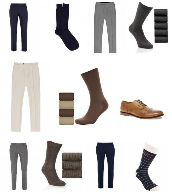 Cách chọn tất hợp tông với giày và quần cho nam